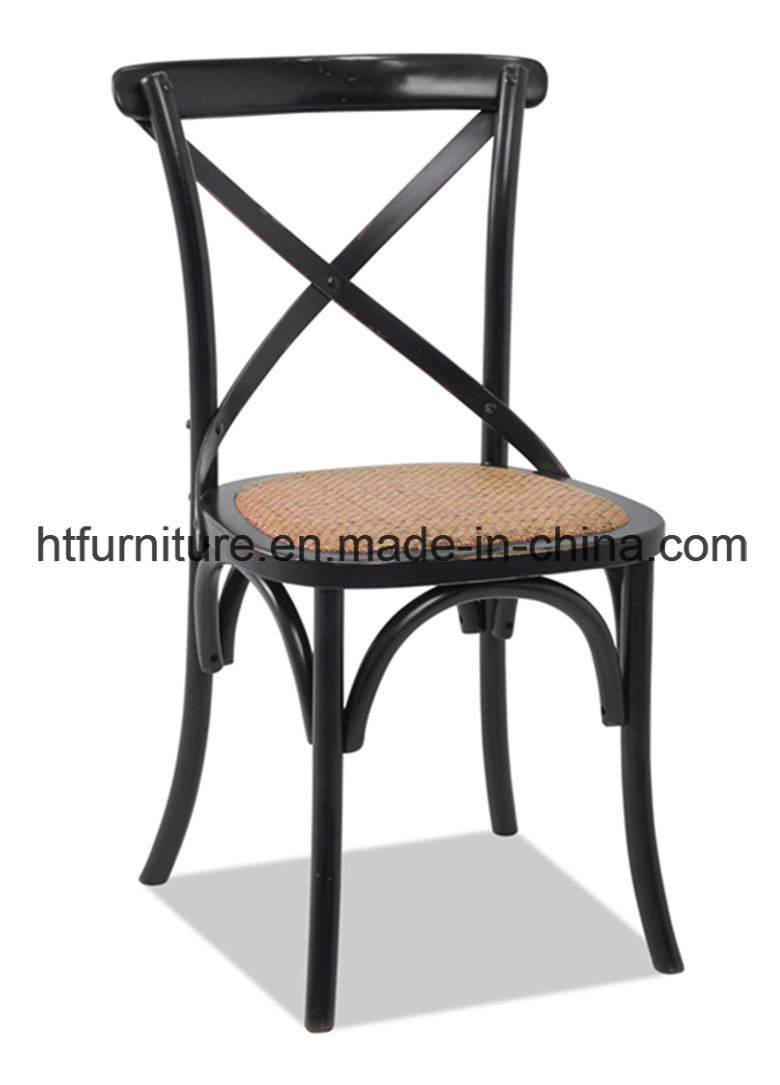 X-Back Black Dining Chairs