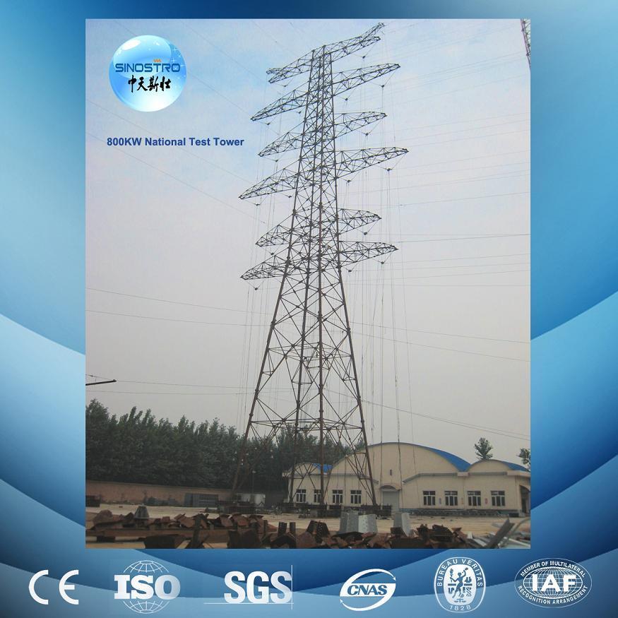 Galvanized 220kv Overhead Transmission Line Tower