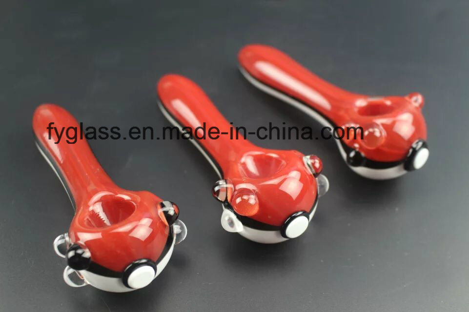 Hot Pokemon Hand Glass Pipe with Wholesale Prices More Red Green