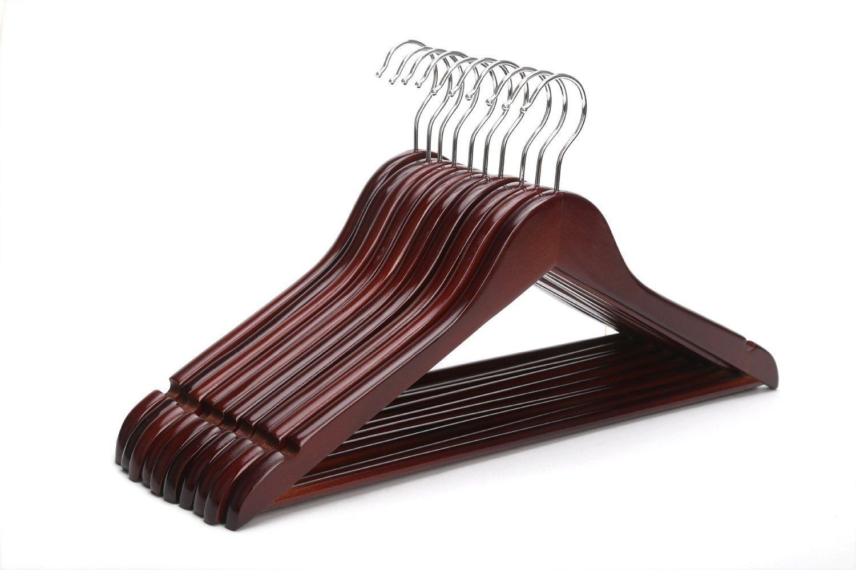 Black Bar Wood Hanger Cheap Clothes Regular Hanger