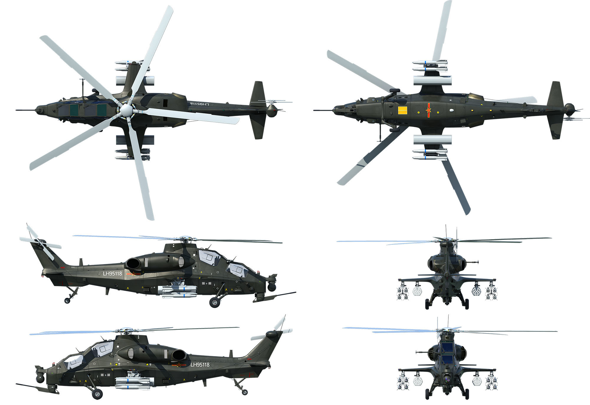 china die cast alloy z10 armed helicopter model aircraft