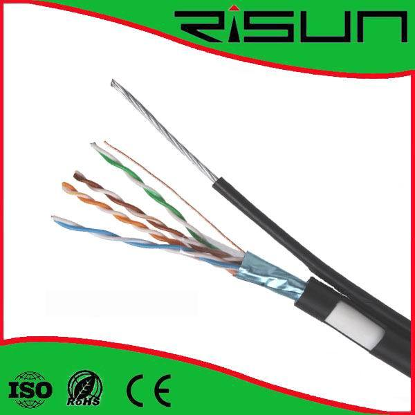 Outdoor Use FTP Cat5e Cable with Messenger