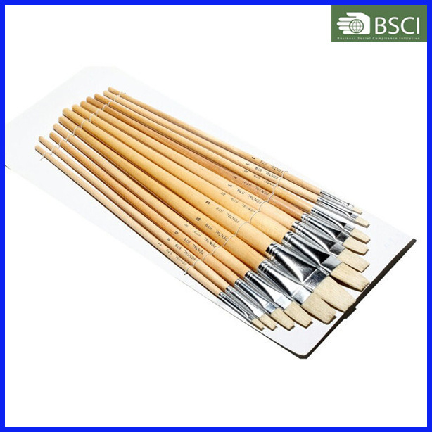 12PCS Wooden Handle Artist Brush Set (579)