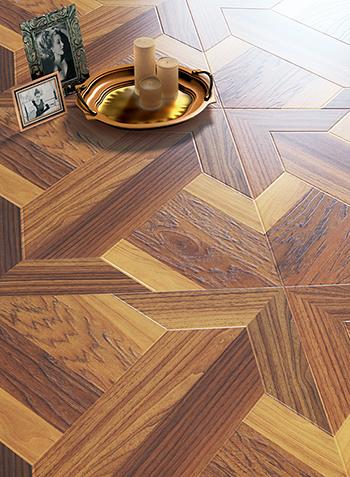 Household/Commercial 8.3mm/12.3mm Fashion HDF Art Parquet Laminate Flooring