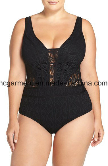 Large Size Swimsuit for Women, Plus-Size One-Piece Swimming Wear