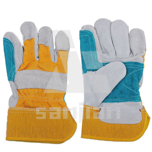 Ab/Bc Grade Labour Leathe Industrial Hand Gloves (SJIE10702)