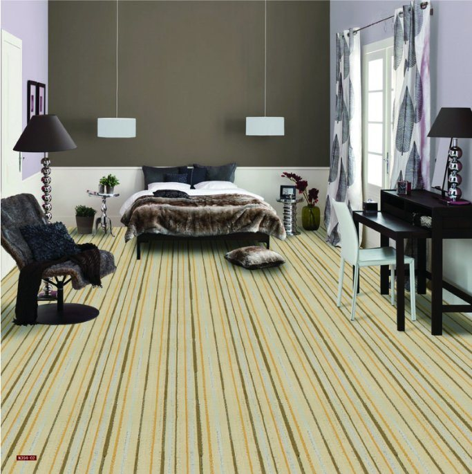 N394-Rolled 1/8 Nylon-PA6 Cut &. Loop Woven Full-Width Repeat Office/Hotel/House Carpet