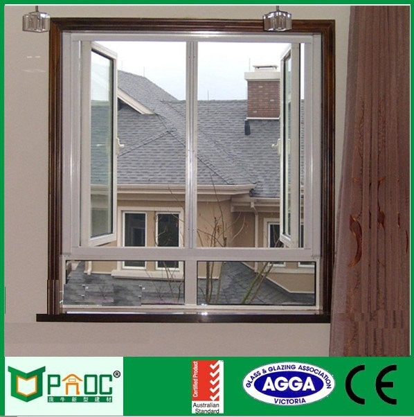 Wooden Grain Aluminium Casement Window