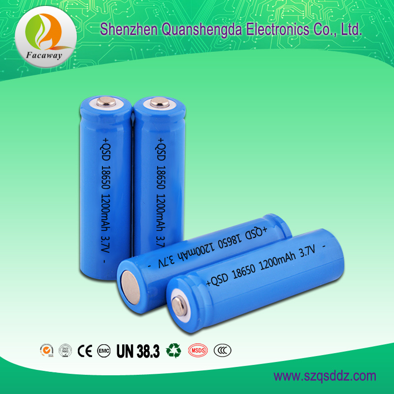 Factory Price Rechargeable lithium 18650 3.7V 2200mAh Battery Cell for Torch