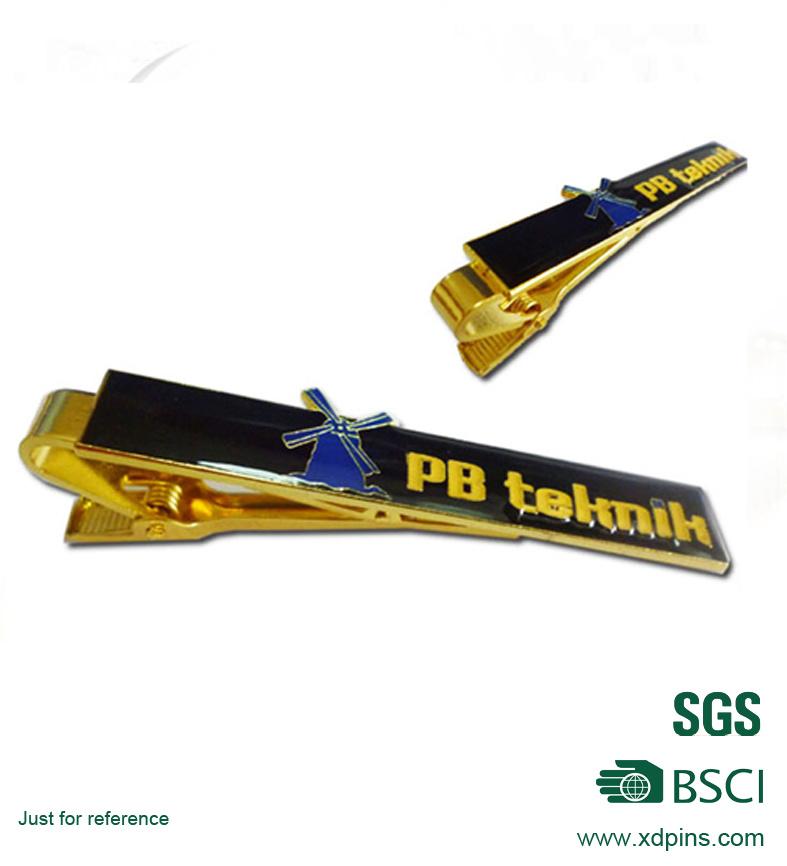 Customized Soft Enamel Gold Tie Clip