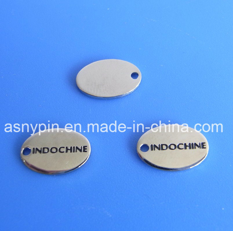 China Oval Custom Engraved Metal Jewelry Tags Photos Pictures