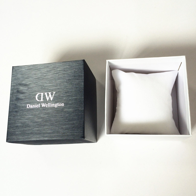 Paper Watch Box with Interior Pillow