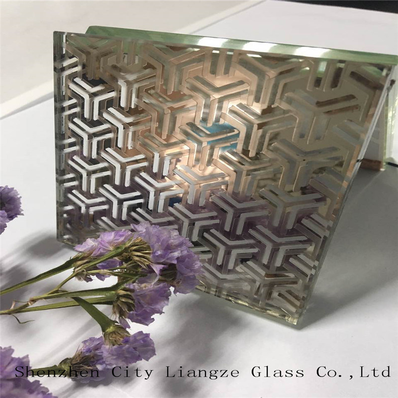 10mm+Glue+5mm Customized Art Glass/Sandwich Glass/Safety Glass/Tempered Glass/Laminated Glass for Decoration