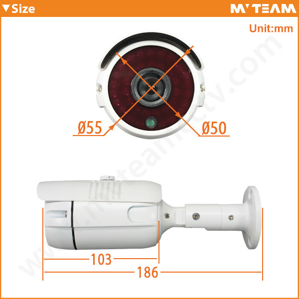 Professional Waterproof IP66 Megapixel P2p IP Poe Camera (MVT-M17)