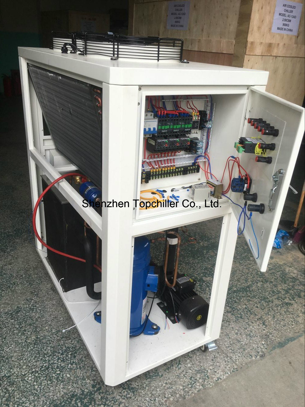 12kw/18kw Portable Air Cooled Packaged Water Chiller with Danfoss Scroll Compressor