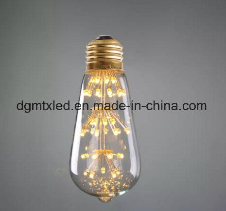 3W Edison Bulb LED Strip E27 G80 Creatives Sky Stars Starry String Light Filament Lamp Home Bar Decor Pendant Lighting 110-240V