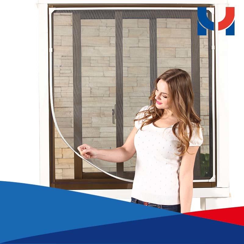 DIY Magnetic Strip Fiberglass Window Screen