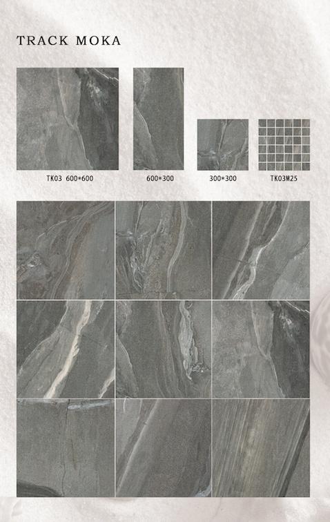Stone Design Glazed Porcelain Tiles for Floor and Wall 600X600mm (TK03)