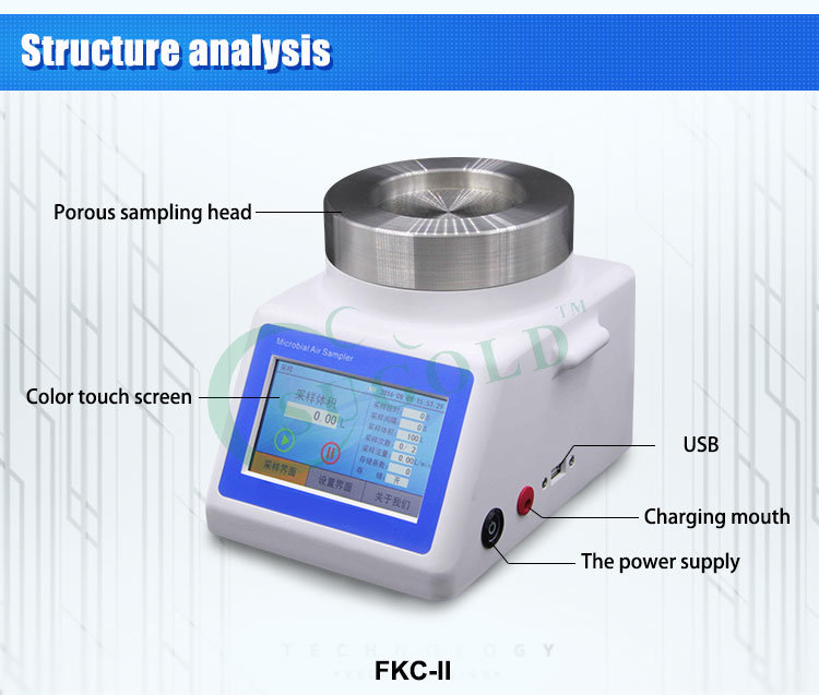 LCD Display Sampling Speed and High Accuracy of a Patented Air Biological Sampler