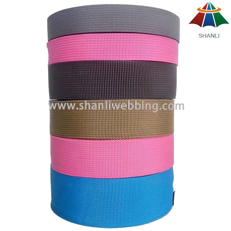 2cm 3cm 5cm Eco-Friendly Fine Grooved Polypropylene PP Webbing