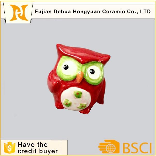 Colored Ceramic Owl Salt & Pepper Shaker