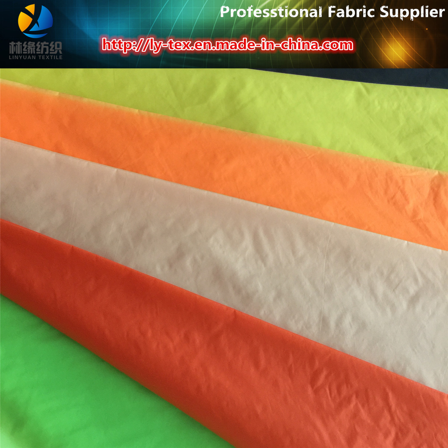 380t Nylon Taffeta, 20d Semi-Dull Taffeta with Downproof for Pocket Cloth (Nylon Fabric)