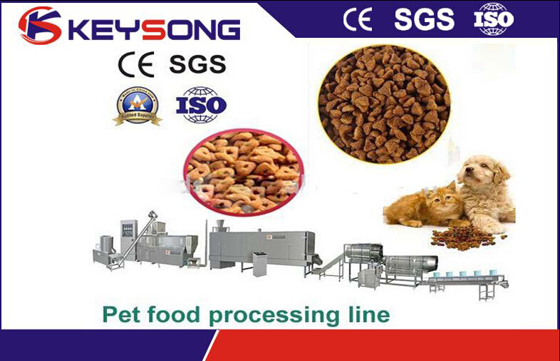 Extruded Dry Pet Dog Fish Feed Food Process Line