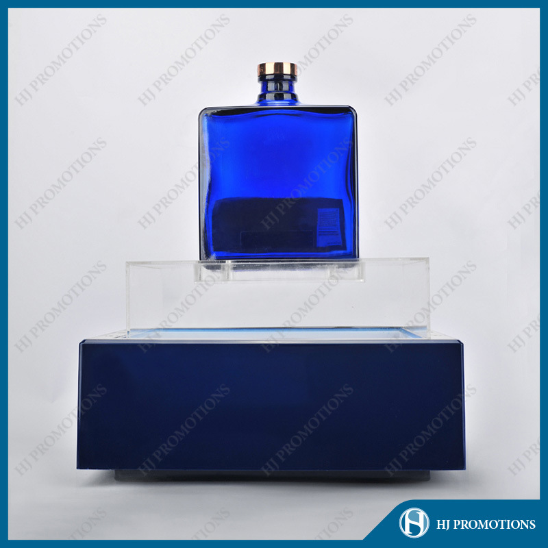 LED Lighting Blue Acrylic Wine Bottle Display Stand (HJ-DWL05)