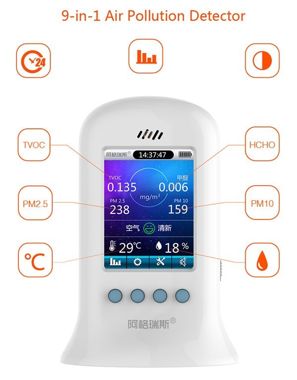Digital Pm2.5 Portable Air Quality Testing Device Airborne Particle Counter