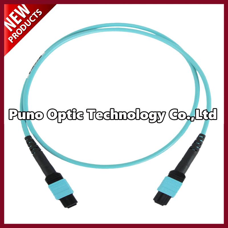 100G 24 Cores OM3 MTP Male Fiber Optic Trunk Cables