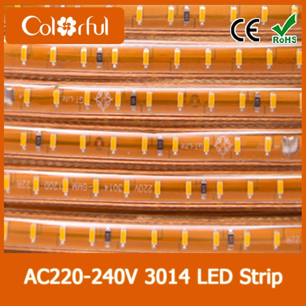 High Voltage Flexible AC230V SMD3014 LED Strip