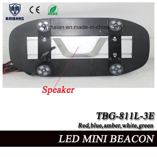Blue LED Beacon Light Built-in Siren and Speaker for Police Cars in SMD LEDs (TBG-811L-3ES)