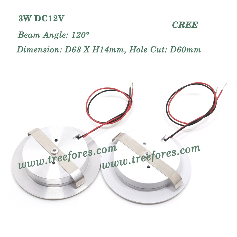 3W 120deg LED Ceiling Light 12V Downlight Lighting