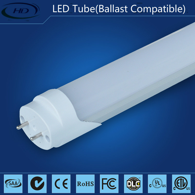 10W T8 Electronic & Magnetic Ballast Compatible LED Tubes-High Lumen