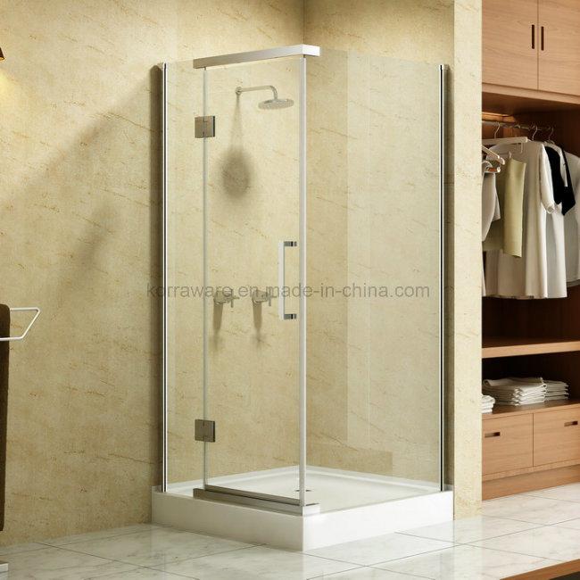 Luxury Delta in USA Frameless Stainless Steel Shower Enclosure Cabin Door Room