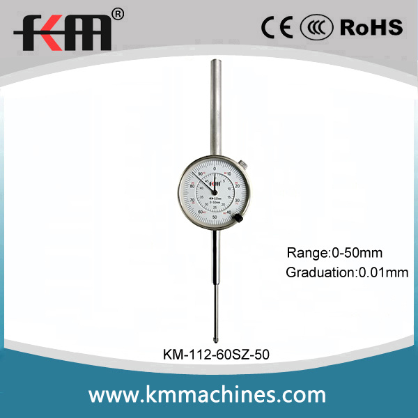 High Quality 0-50mm Mechanical Dial Indicator Gauge with 0.01mm Graduation