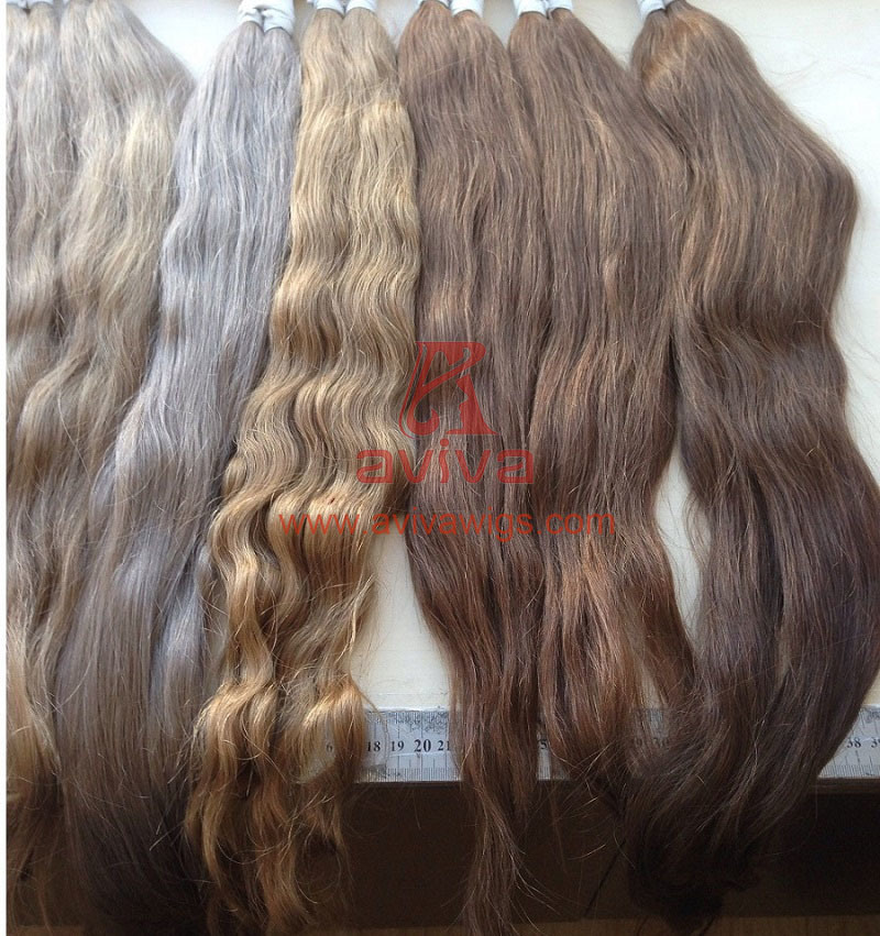 Unprocessed Natural Virgin Remy Human Hair Bulk