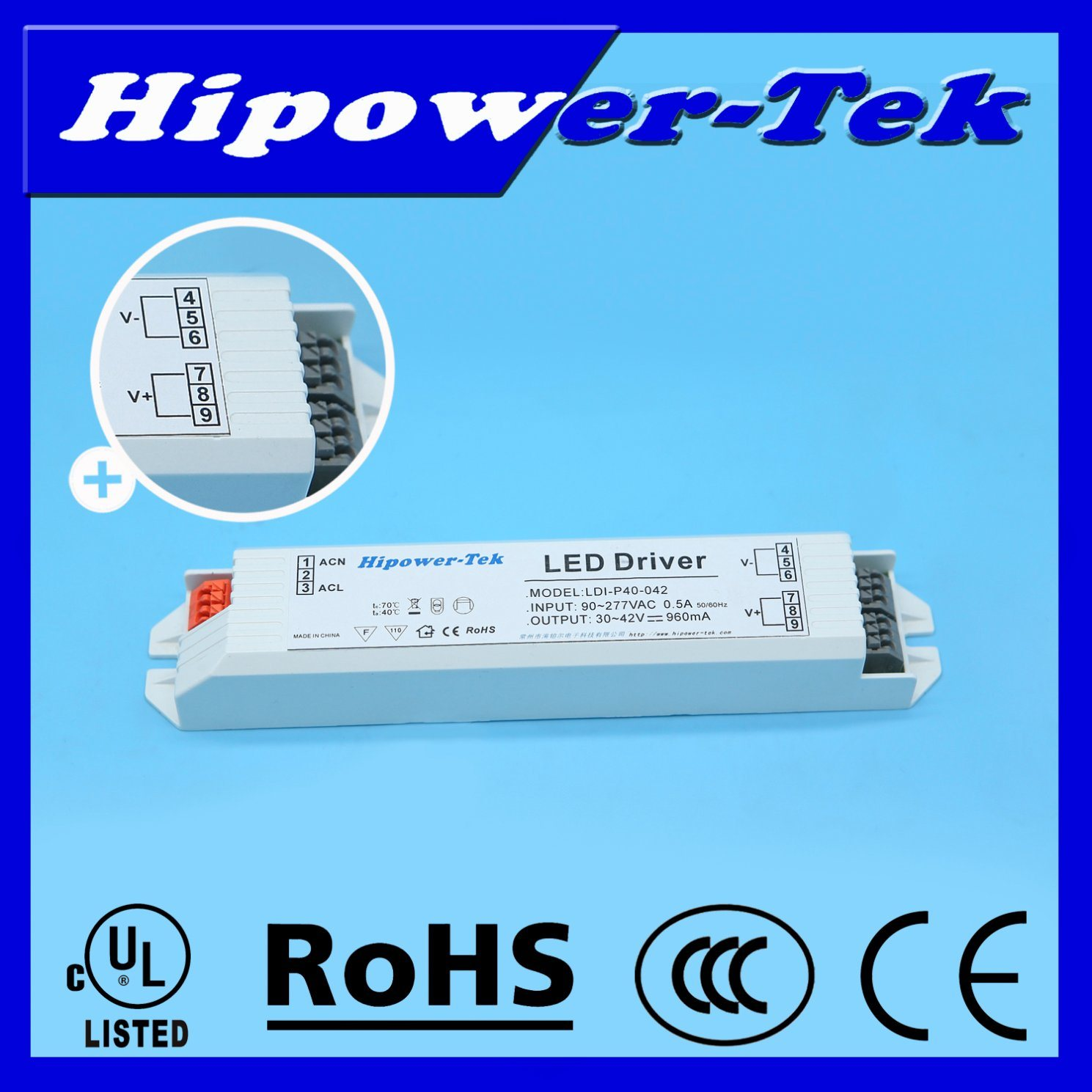 20W/30W/40W Constant Current Plastic Case Power Supply LED Driver