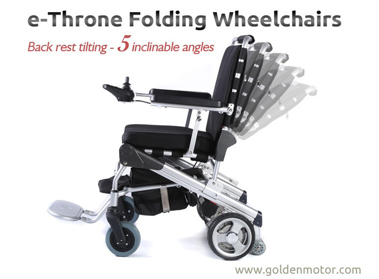 E-Throne! Golden Motor Innovative Wheelchair! Light Weight! 1 Second Foldable Brushless Power Electric Wheelchair, The Best in The World