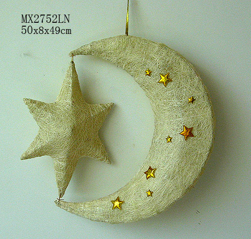 China Home Decoration Hanging Moon And Star Mx2752ln China Home Decoration Holiday Decoration