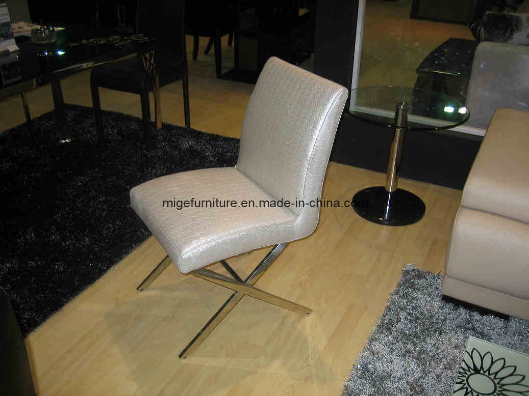 Bruno Dining Chair Black Leather Modern Stainless Steel | eBay