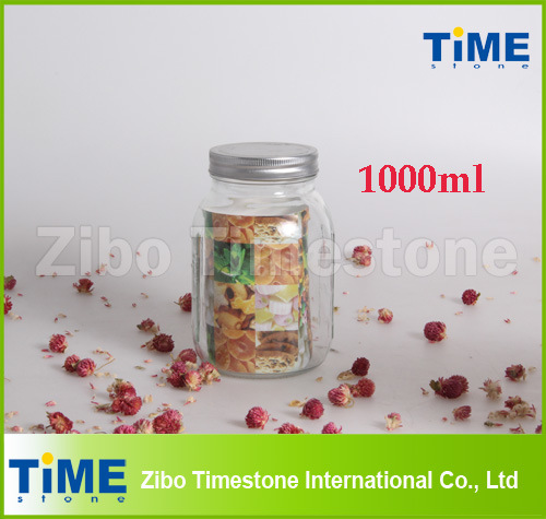 Hot Sale 1L 1000ml Large Mason Jars Wholesale