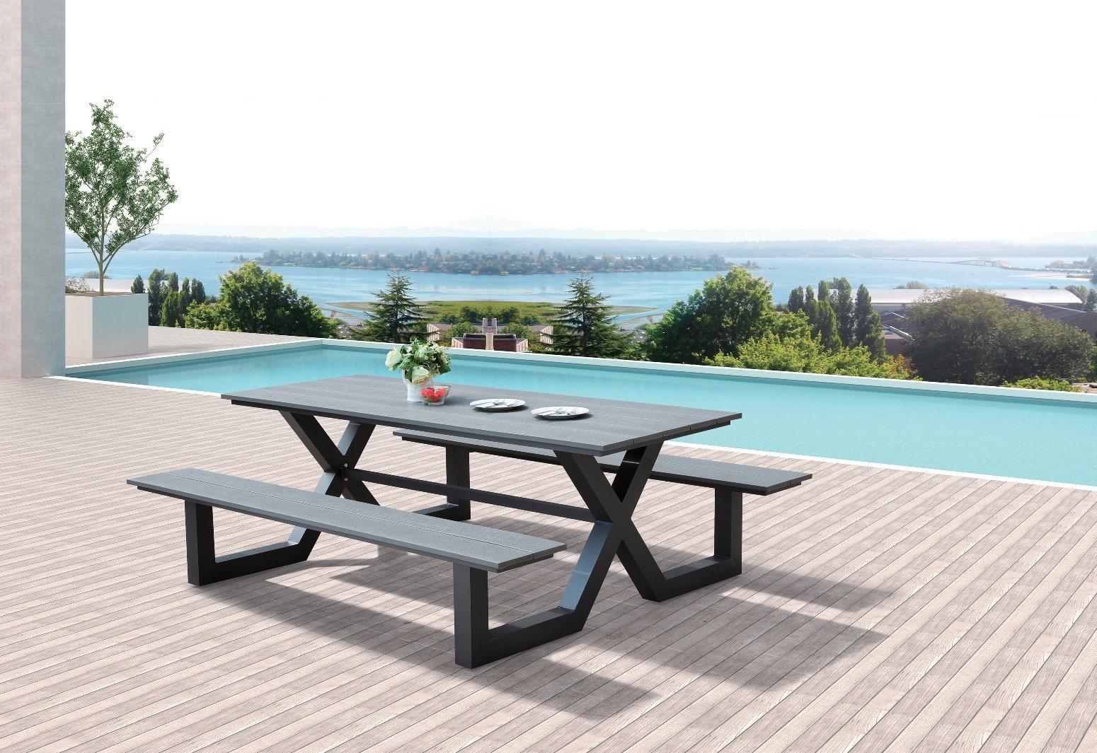 Outdoor Patio Home Hotel Office Luxury Arch Bench Garden Chair (J655)