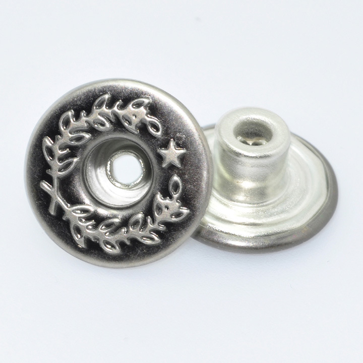 Fashin Metal Snap Shank Button for Jean Garment Customized Designs Are Acceptable