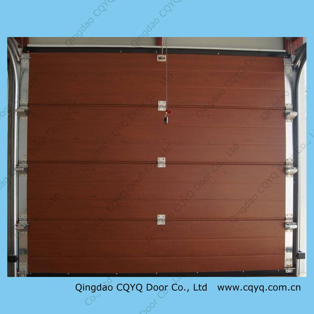 China wood color sectional garage doors china wood color for Garage door colors