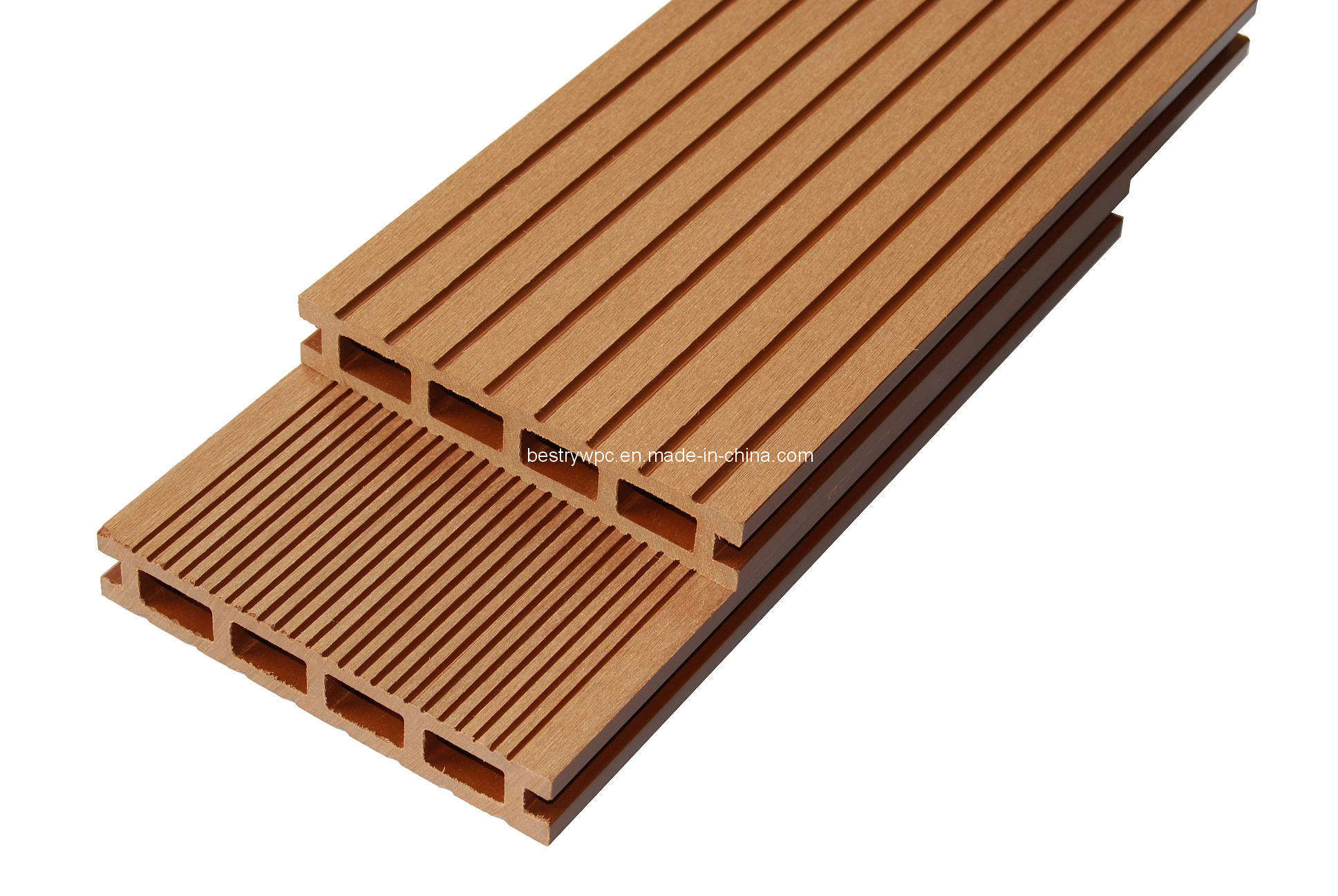 China wood plastic composite floorwpc decking bd140h25b for Plastic composite decking