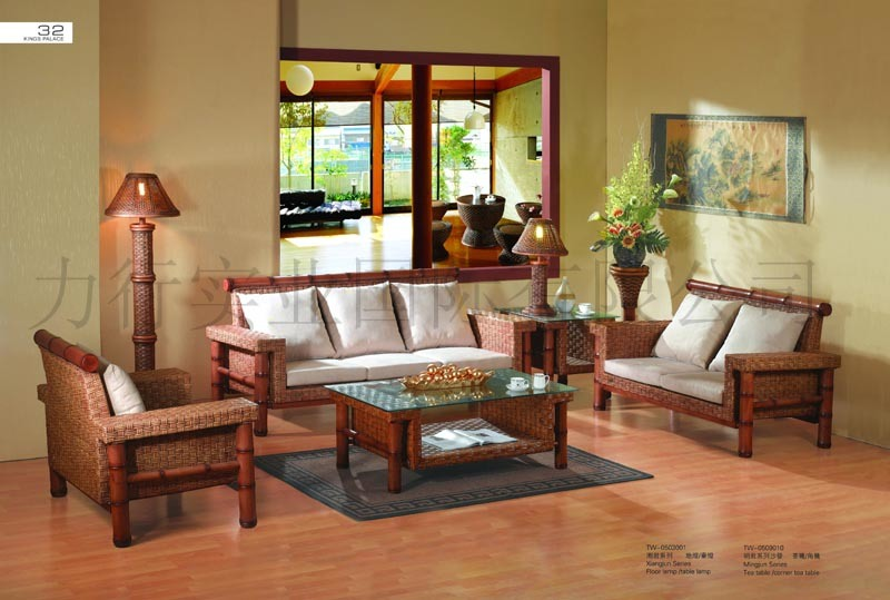China rattan furniture living room set tw 810 china for Wicker living room furniture