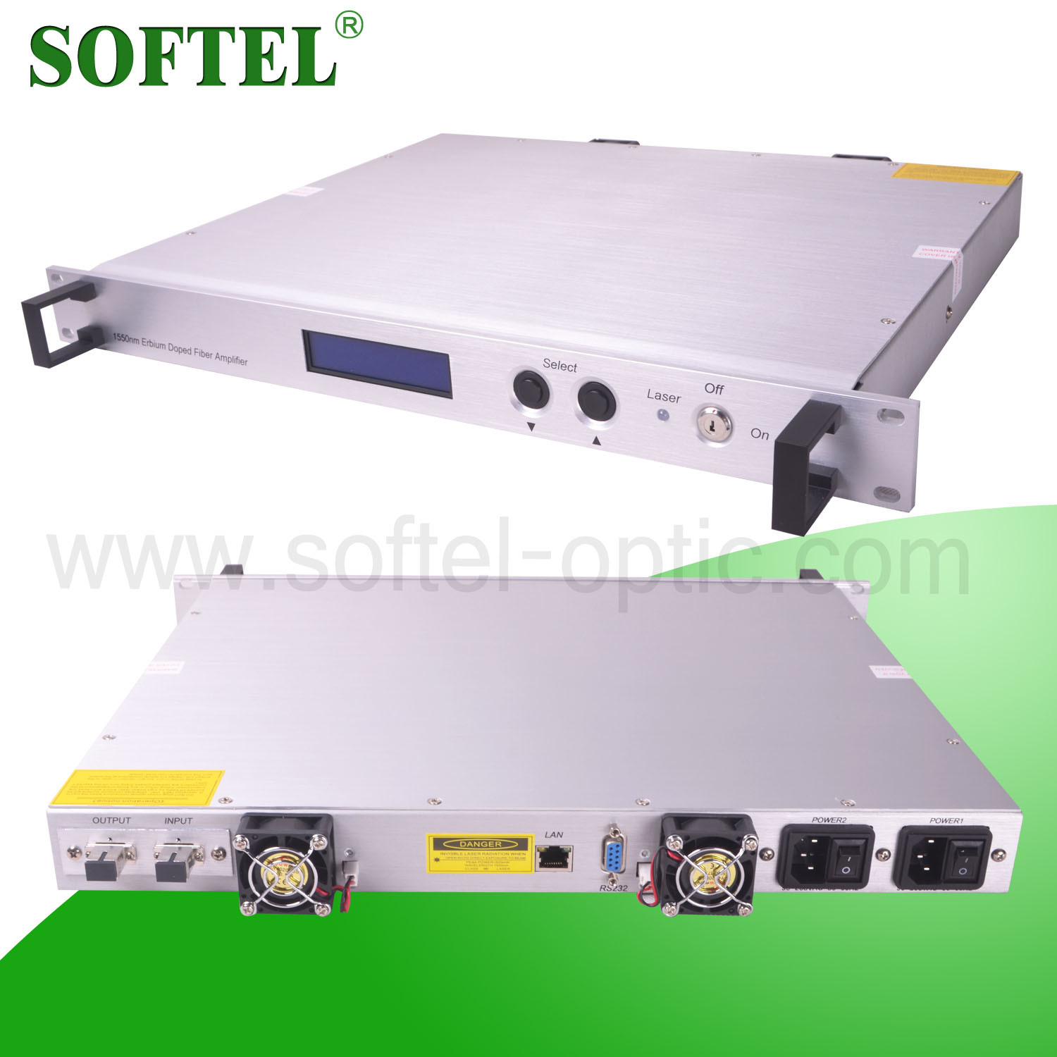 Softel 1550nm Erbium-Doped Optical Fiber Amplifier/15dB CATV EDFA Fiber Optical Signal Amplifier