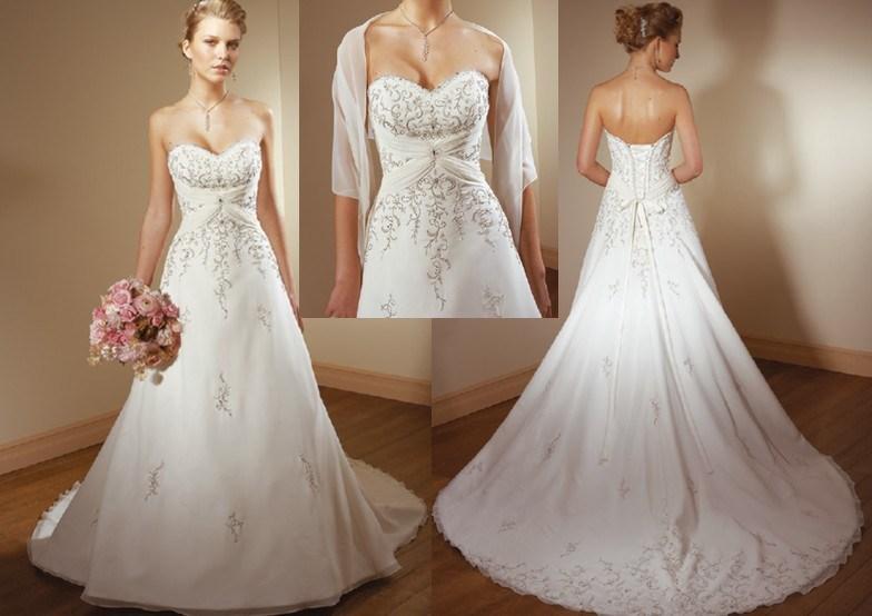 Wedding dresses gold beading for Wedding dresses with gold beading