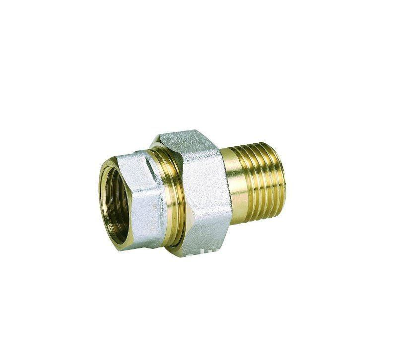 Nickel-Plated Screw Fitting - Straight Union with Extention M/F